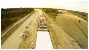 Budowa betonowej autostrady A1 Stryków – Tuszyn