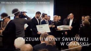 Film z wręczenia nagród XXII edycji konkursu Polski Cement w Architekturze
